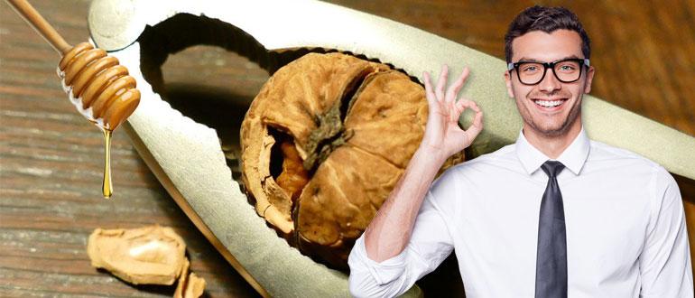 Мед и грецкие орехи для потенции рецепт